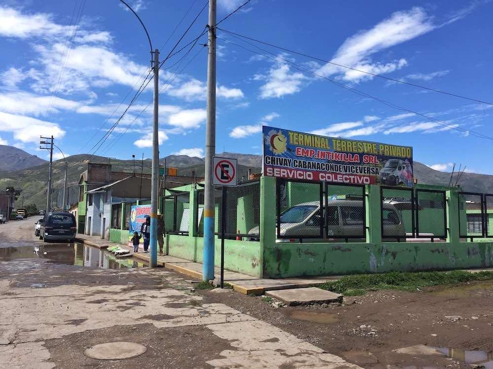 Chivay to Cabanaconde minivan