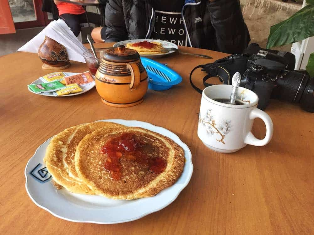 Colca Canyon breakfasts