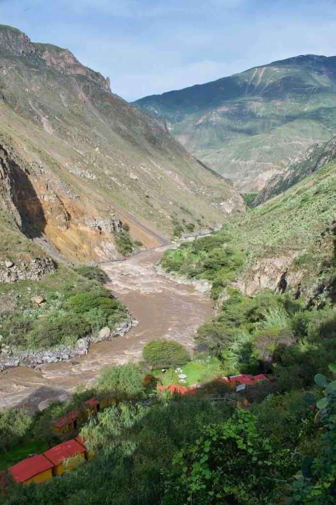 Colca Canyon hot springs Llahuar