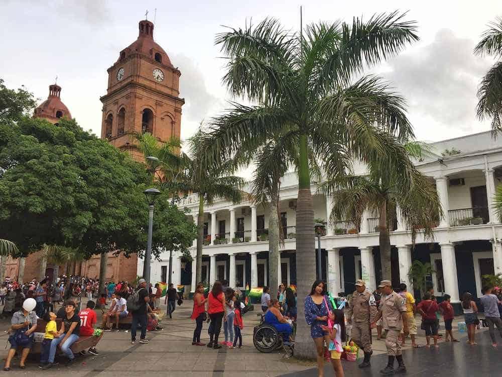 Plaza 24 de Septiembre Santa Cruz de la Sierra Bolivia