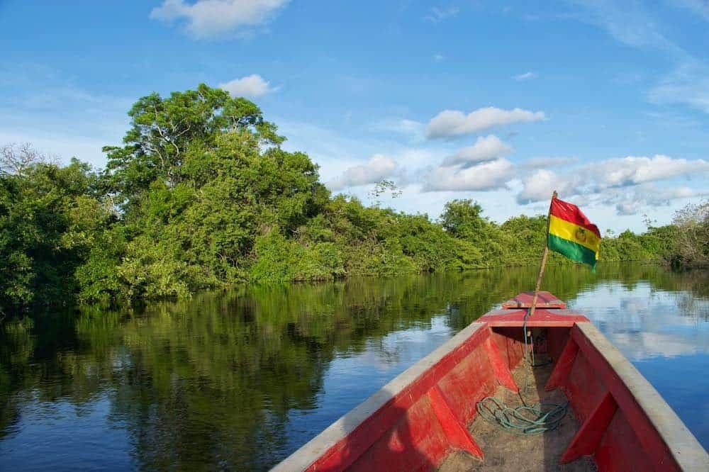Boat trip in Bolivia Amazon