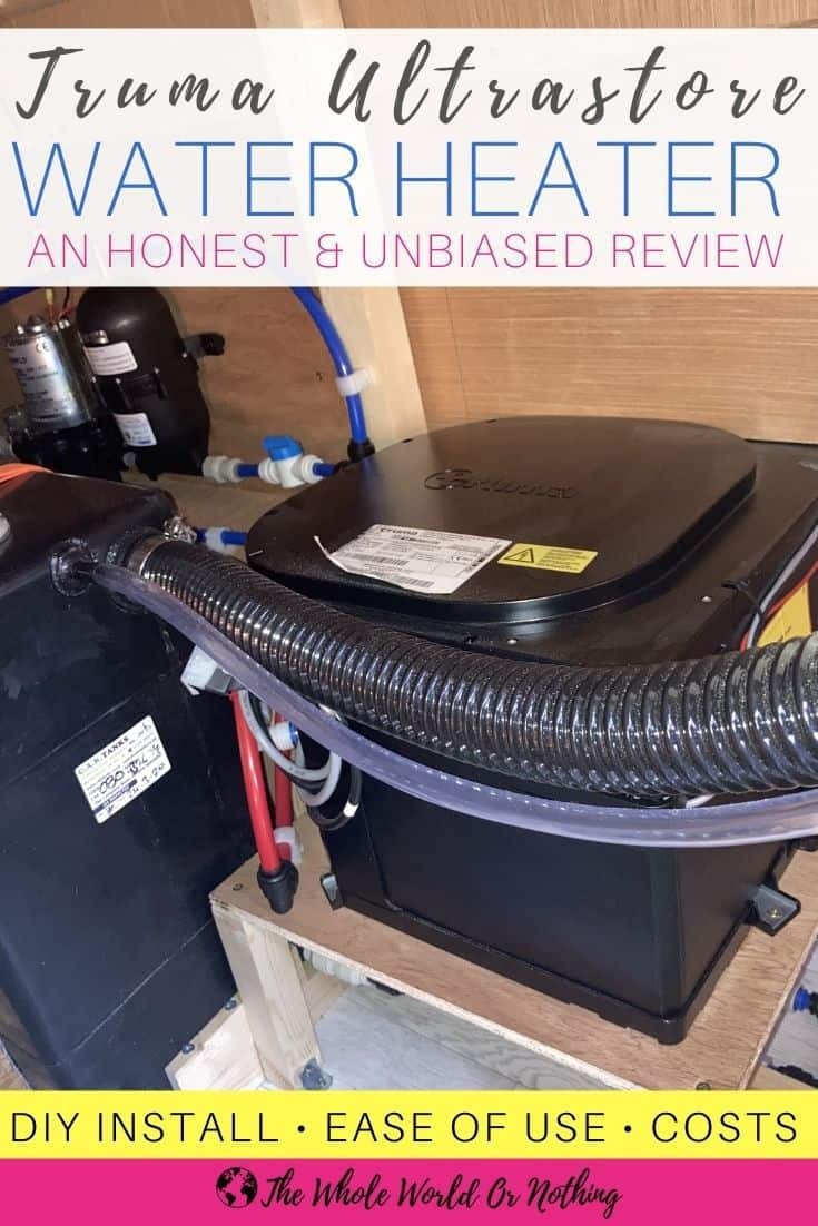Truma Ultrastore Water Heater with text overlay An Honest and Unbiased Review