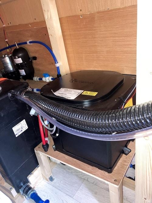 Truma hot water system install