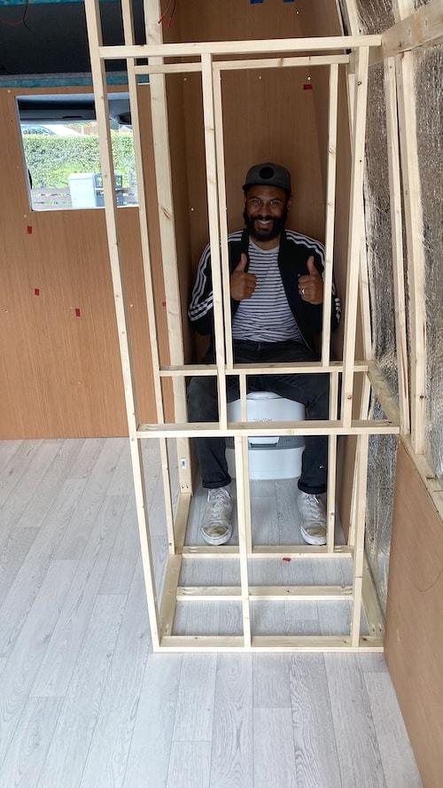 Van Conversion Bathroom Frame