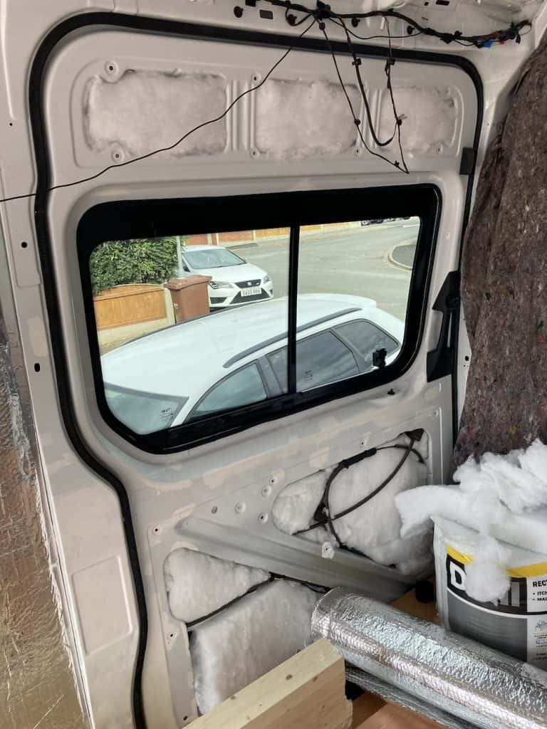 bonded van windows