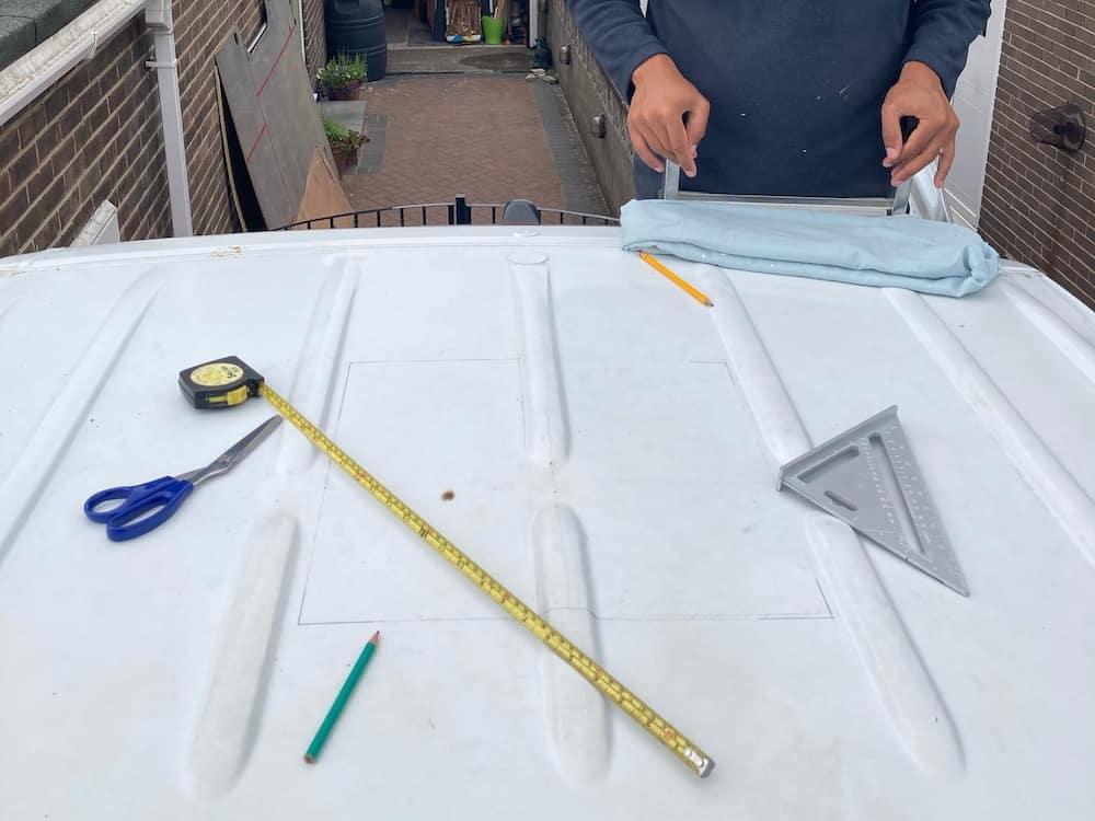 camper roof vents preparation