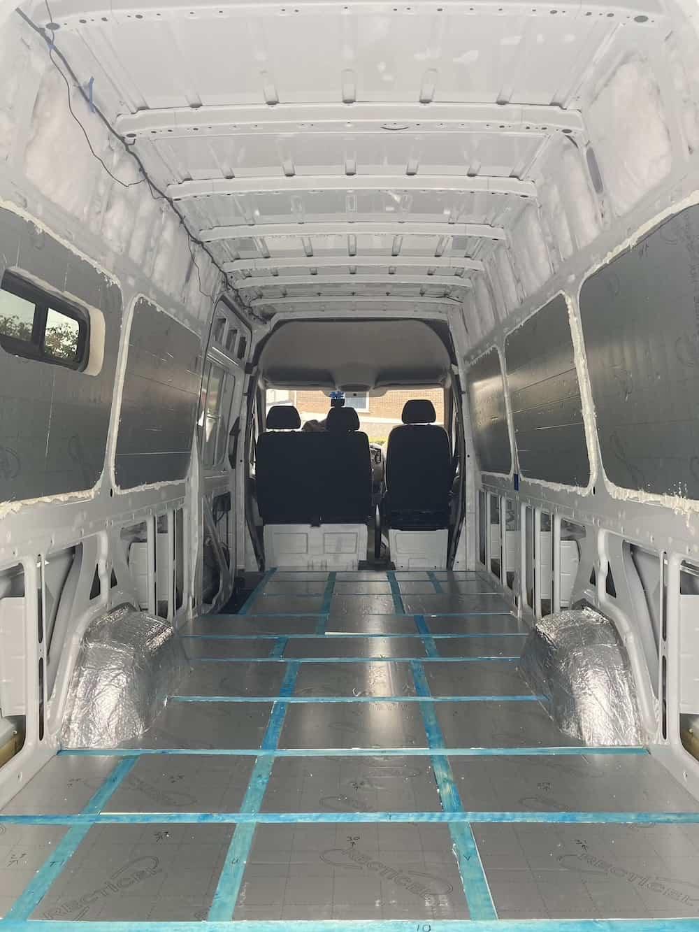 van conversion floor insulation