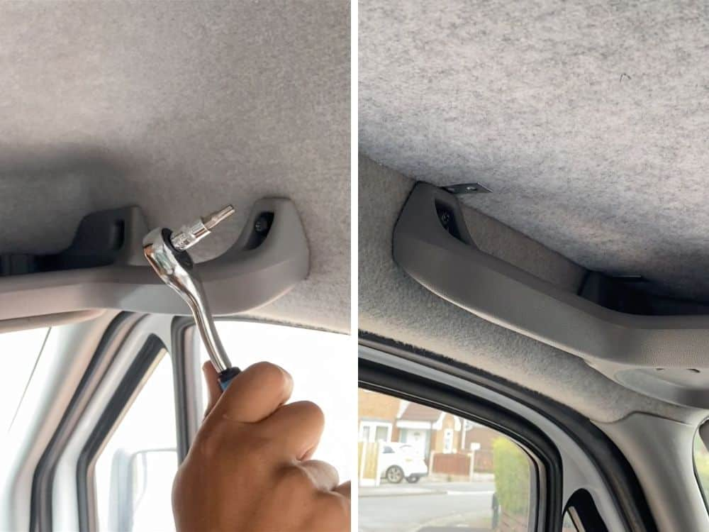 Sprinter cab shelf fixing
