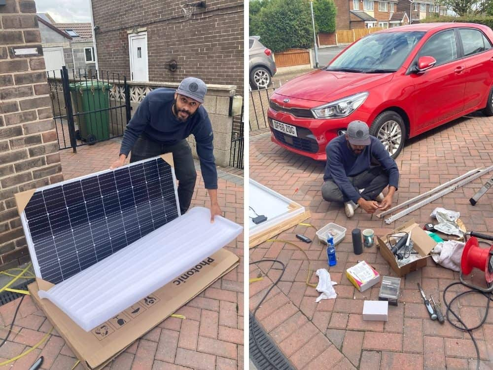 mounting structure for solar panels