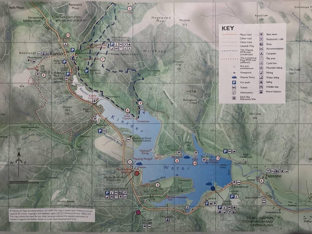 Kielder Forest Map