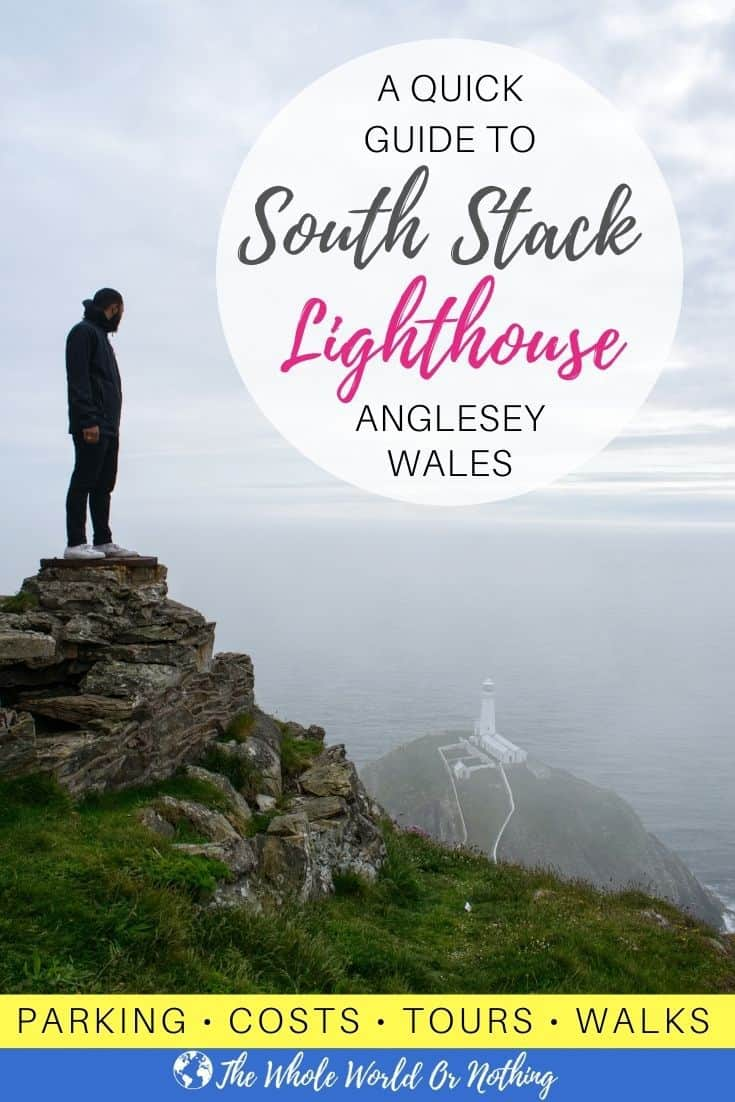 View from above of South Stack Lighthouse Anglesey