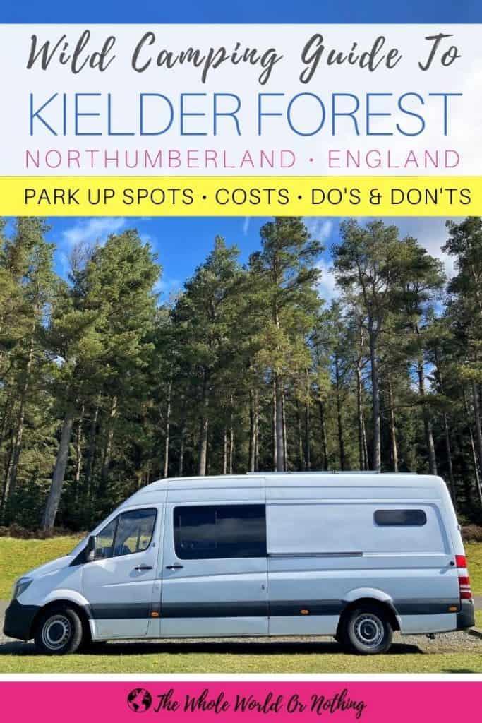 Campervan in Kielder Forest Northumberland