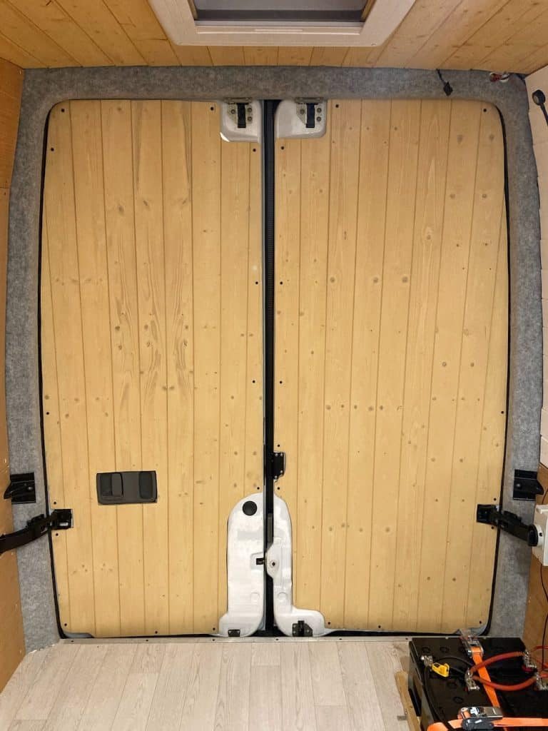 cladding campervan backdoors