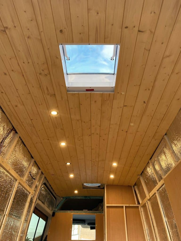 tongue and groove van ceiling