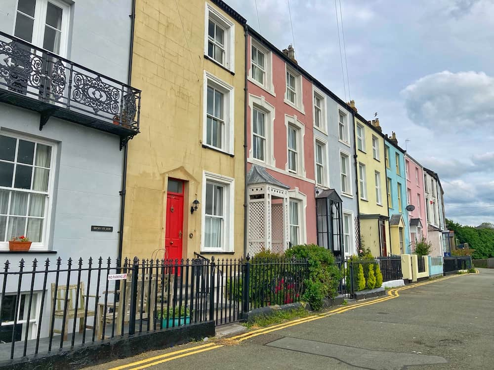 Colourful houses in Caernarfon