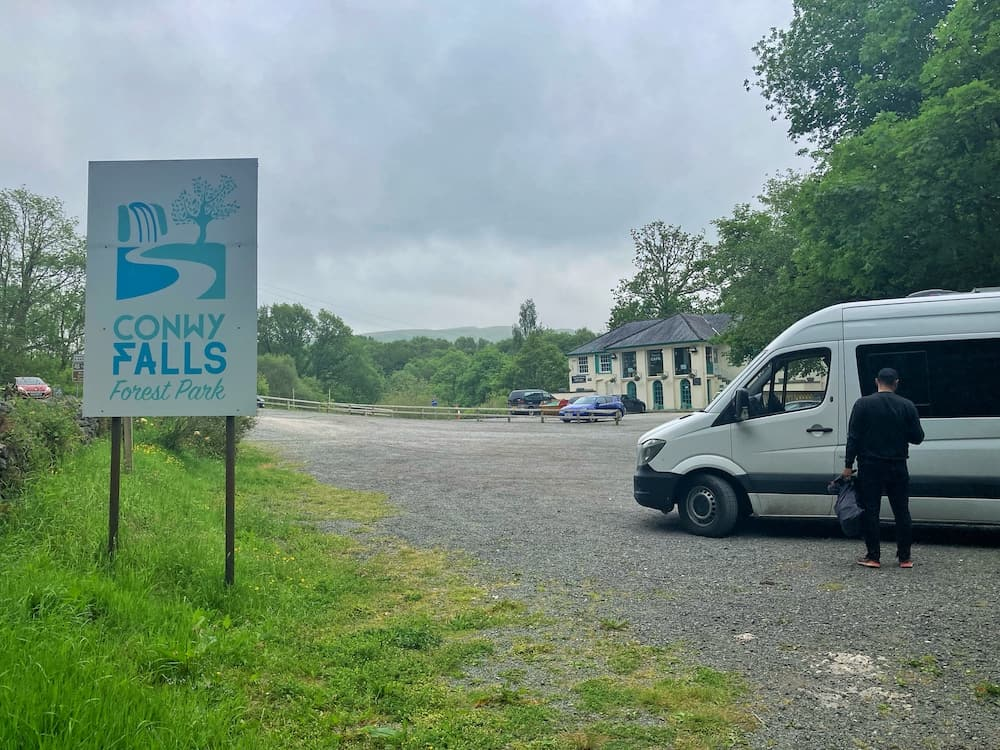 Parking at Conwy Falls
