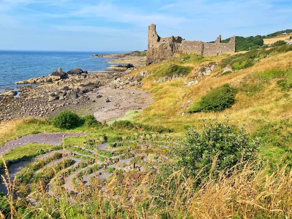 Dunure Castle on South West Coastal 300